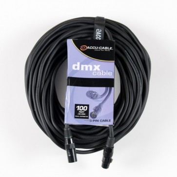 AC3PDMX100 - 100ft 3 Pin DMX Accu Cable